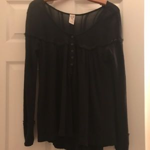 Free People Tops - Free people black top size m
